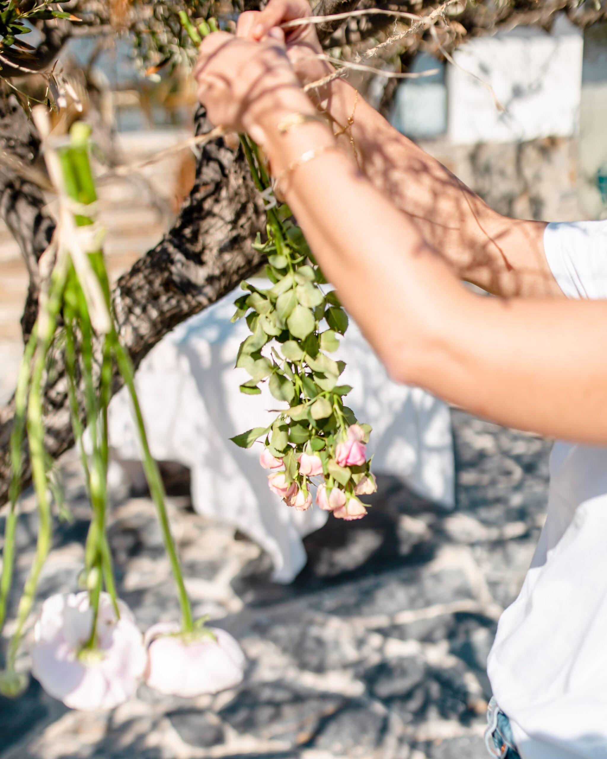 Bouquet de fleurs fraiche Rosa Cadaqués