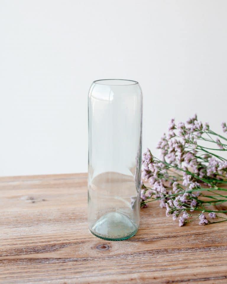 Vase Q de bouteille transparent - Vase taille M
