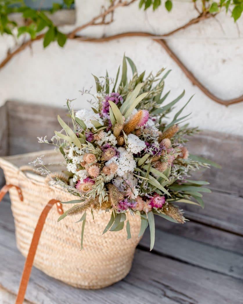 Bouquet de fleurs séchées Sa Riera, un bouquet dz fleurs séchées naturelles et délicates