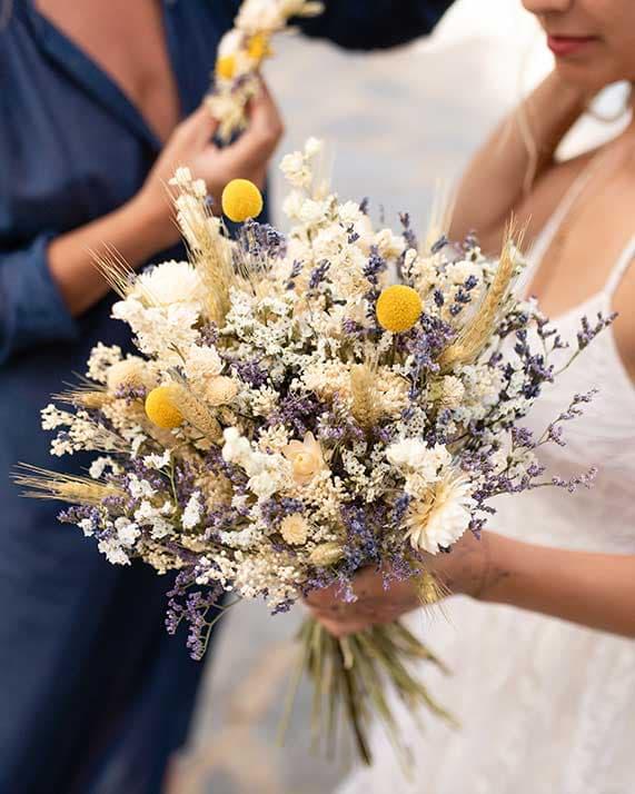 Bouquet Gala fleurs séchées Rosa Cadaqués