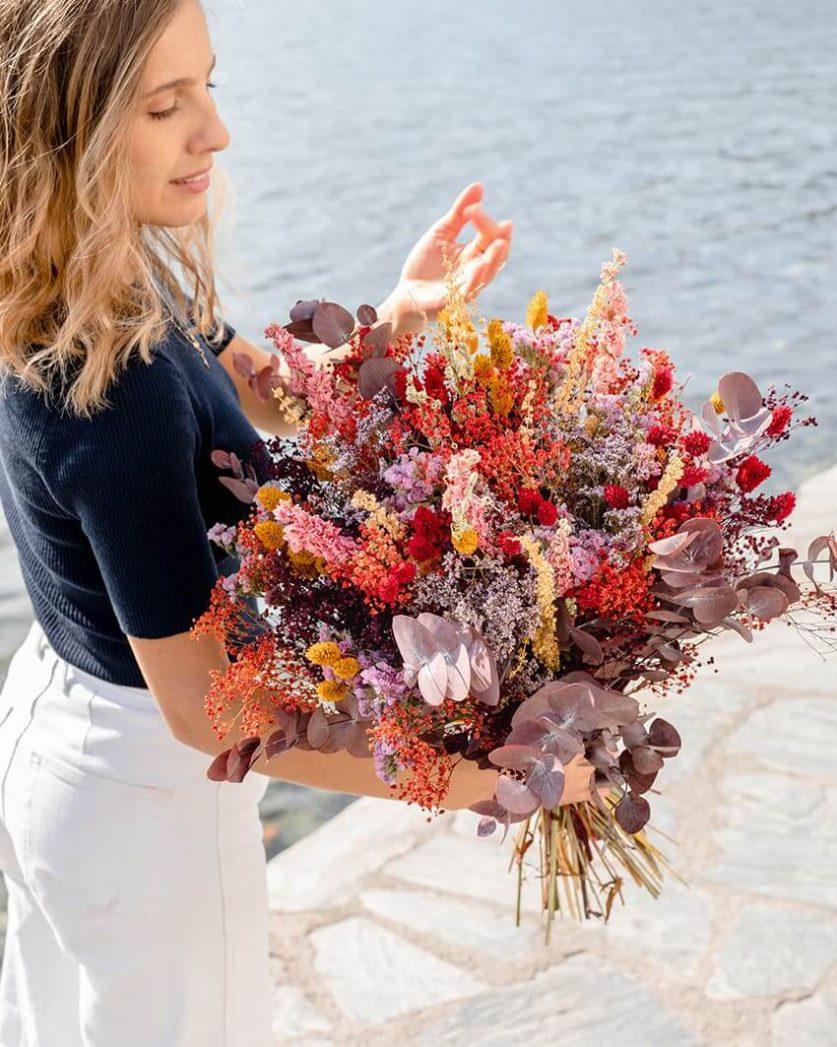 Bouquet de fleurs séchée