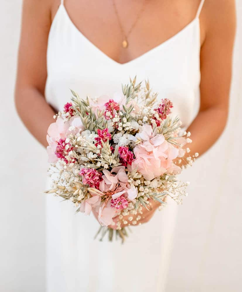 Wildflower Rosa bridal Bouquet