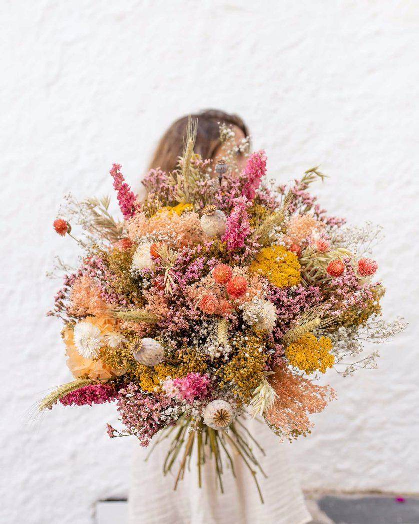 Bouquet de fleurs séchées Caïals Rosa Cadaqués