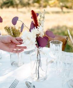 Centre de table de fleurs séchées Rosa Cadaqués