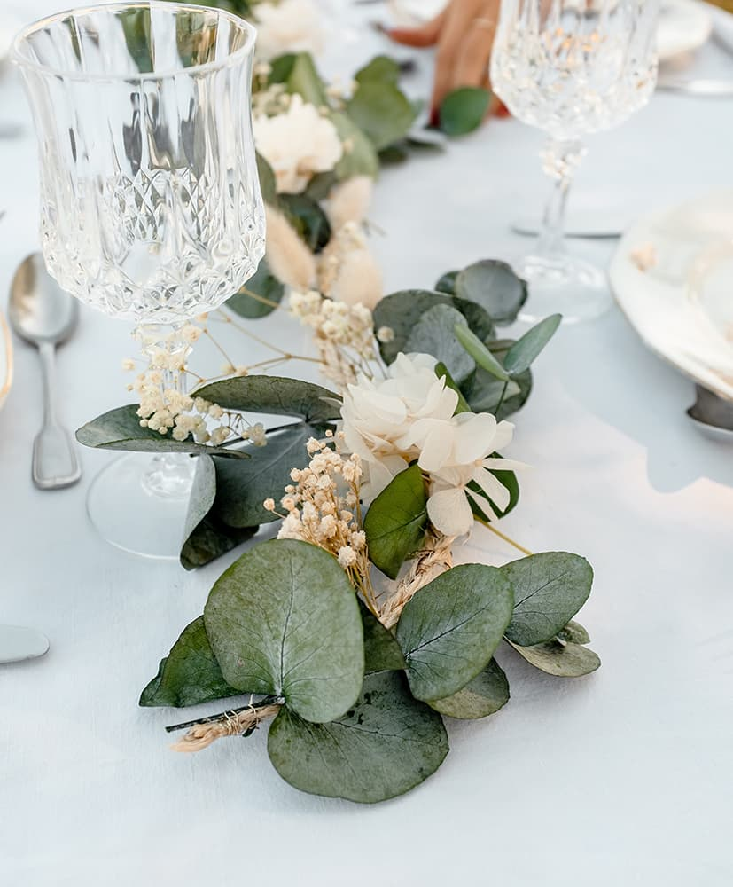 Table Decoration Wedding Baptism And Communion With Dried Flowers