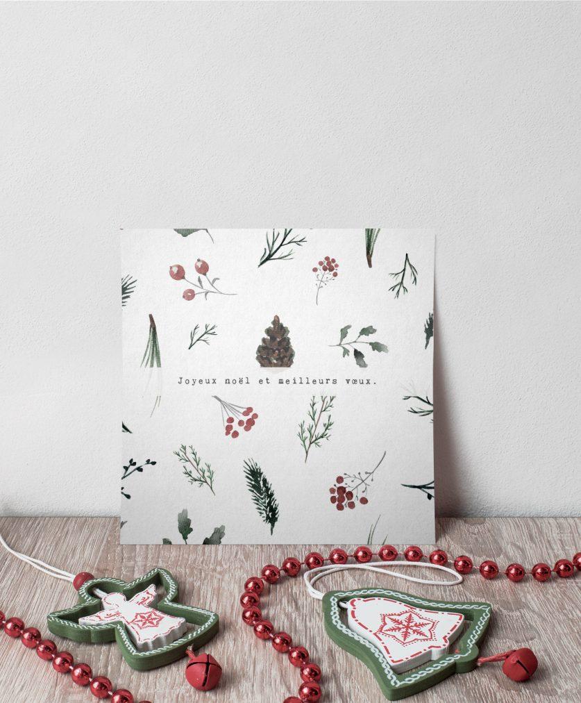 Carte cadeau Noël - présentation