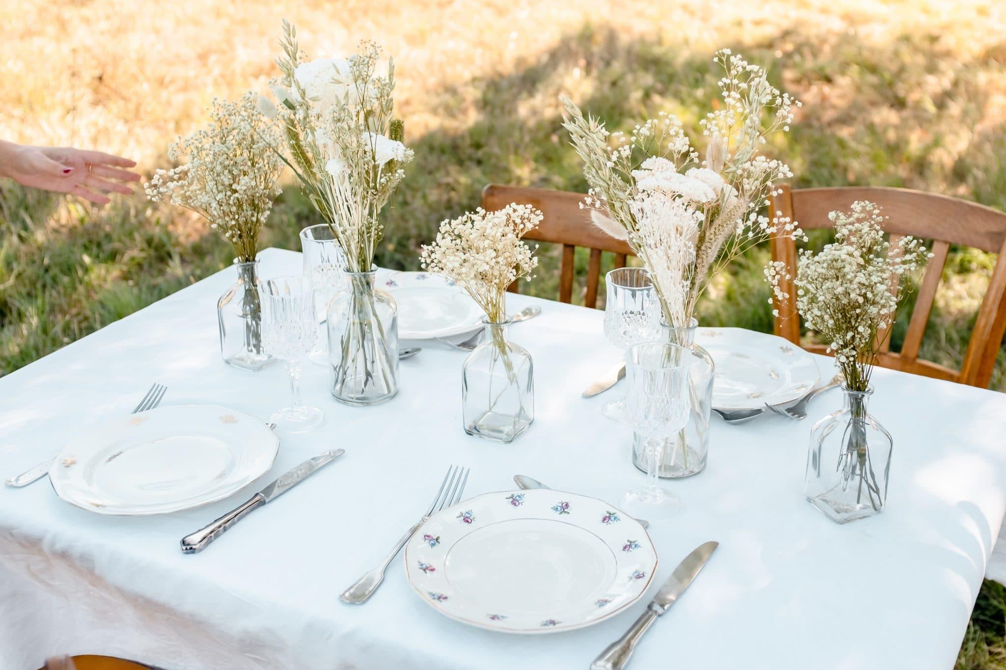 décoration table mariage rosa cadaques