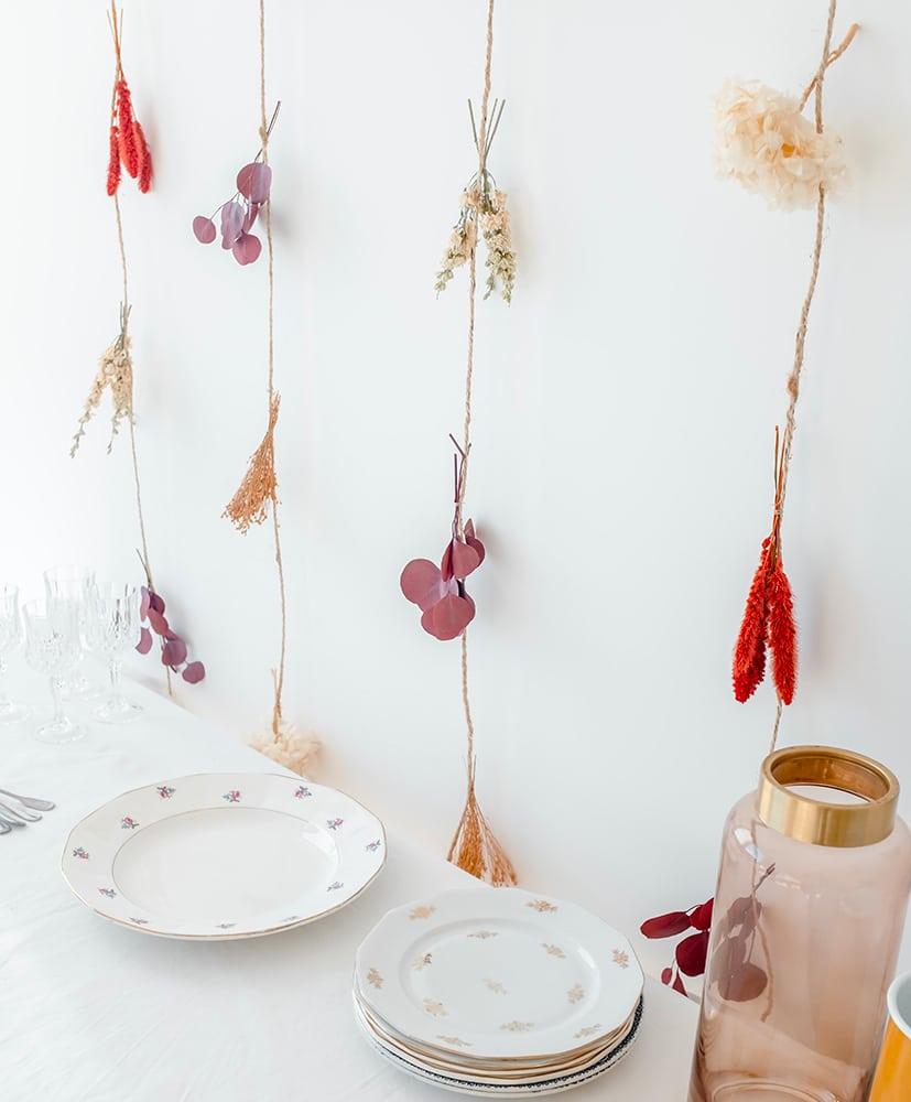 Rideau de fleurs séchées Magda
