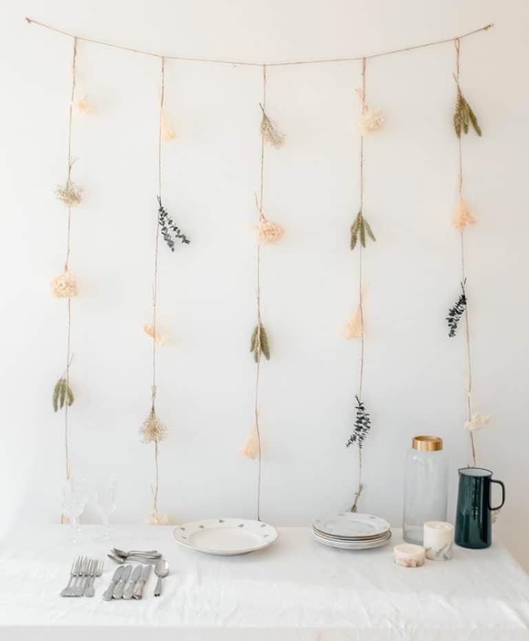 Rideau de fleurs séchées Gemma