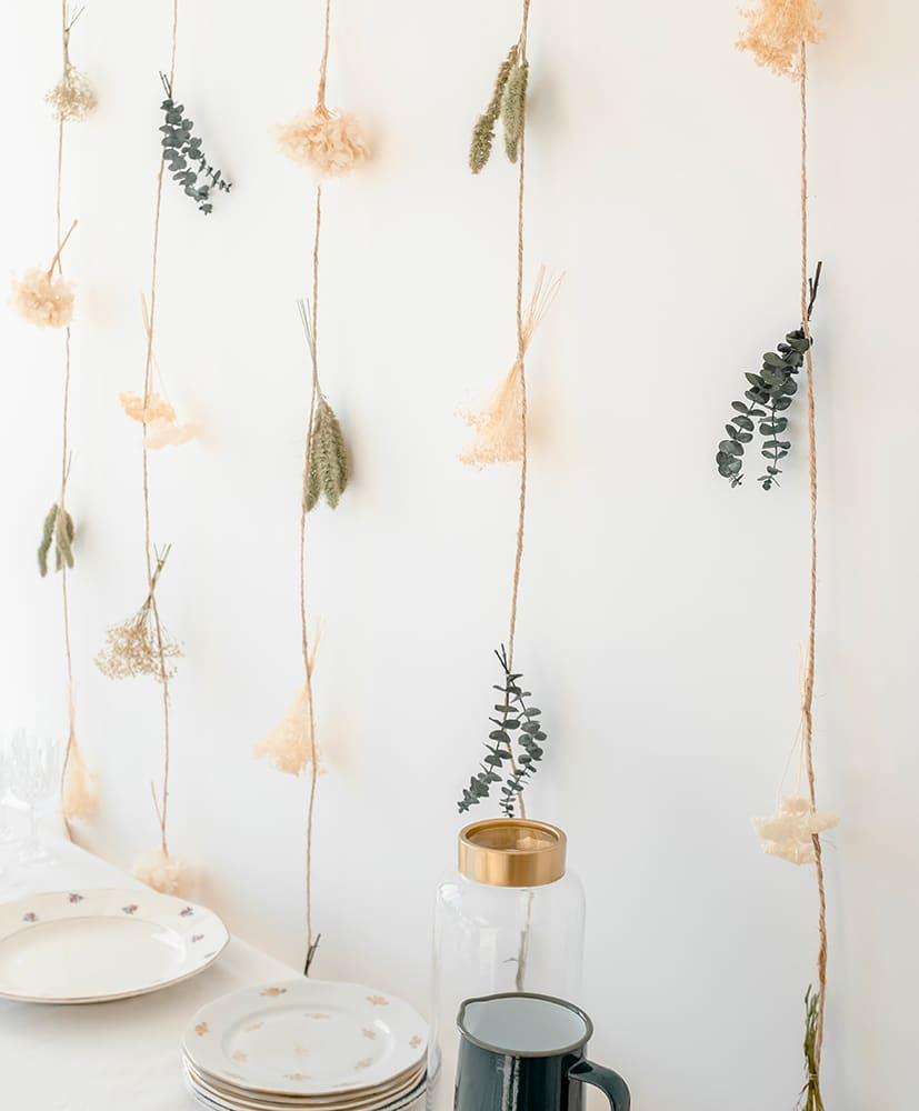 Gemma dried flowers curtain