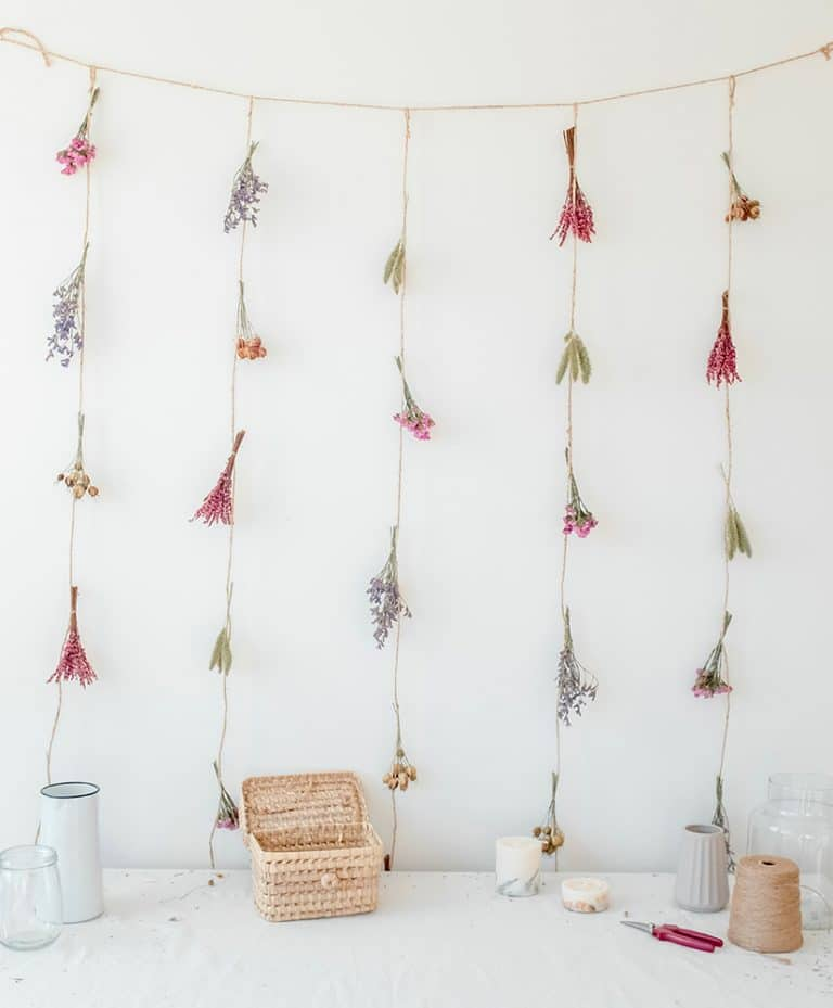 Pablo dried flowers curtain