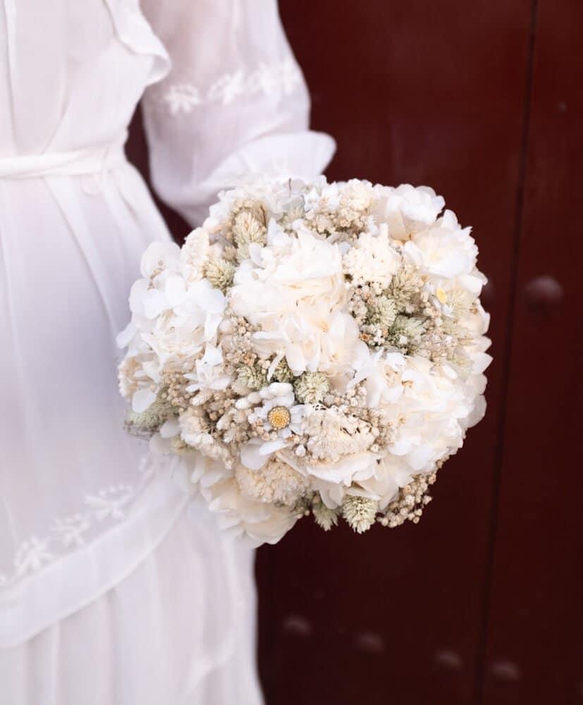 Bouquet De Fleurs Sechees Mariage Bouquet De Mariee Rosa