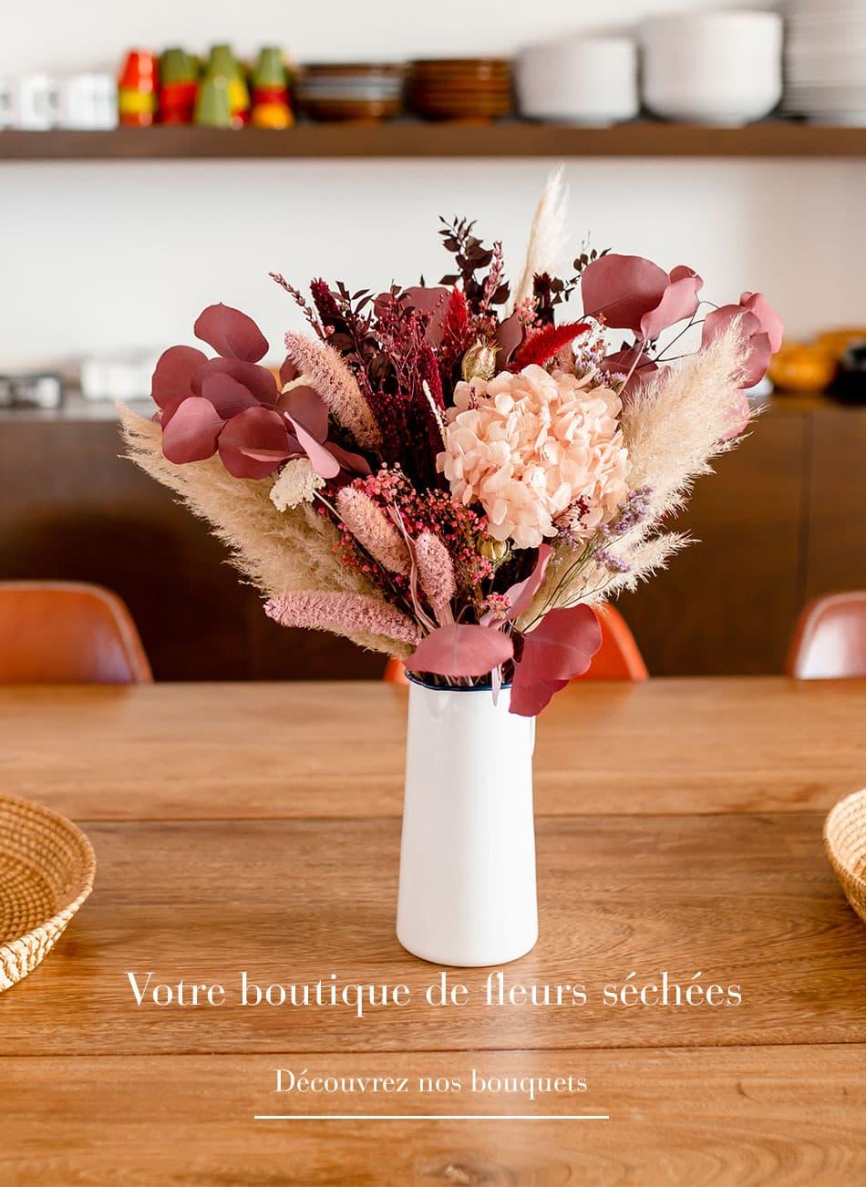 Tous les bouquets de fleurs séchées Rosa Cadaqués