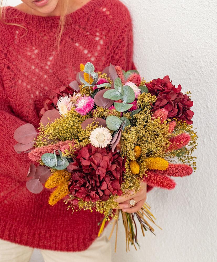 Bouquet De Fleurs Séchées De Saison Rosa Cadaqués