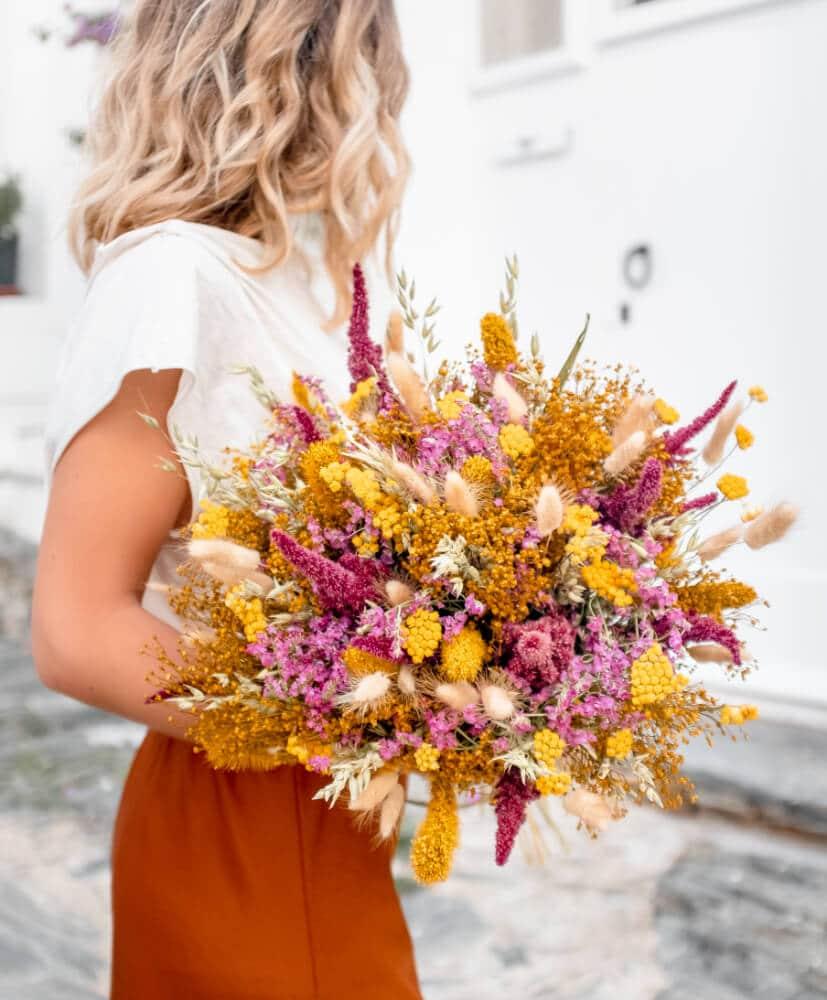 Bouquet de fleurs séchées Cala Ferriol par Rosa Cadaqués