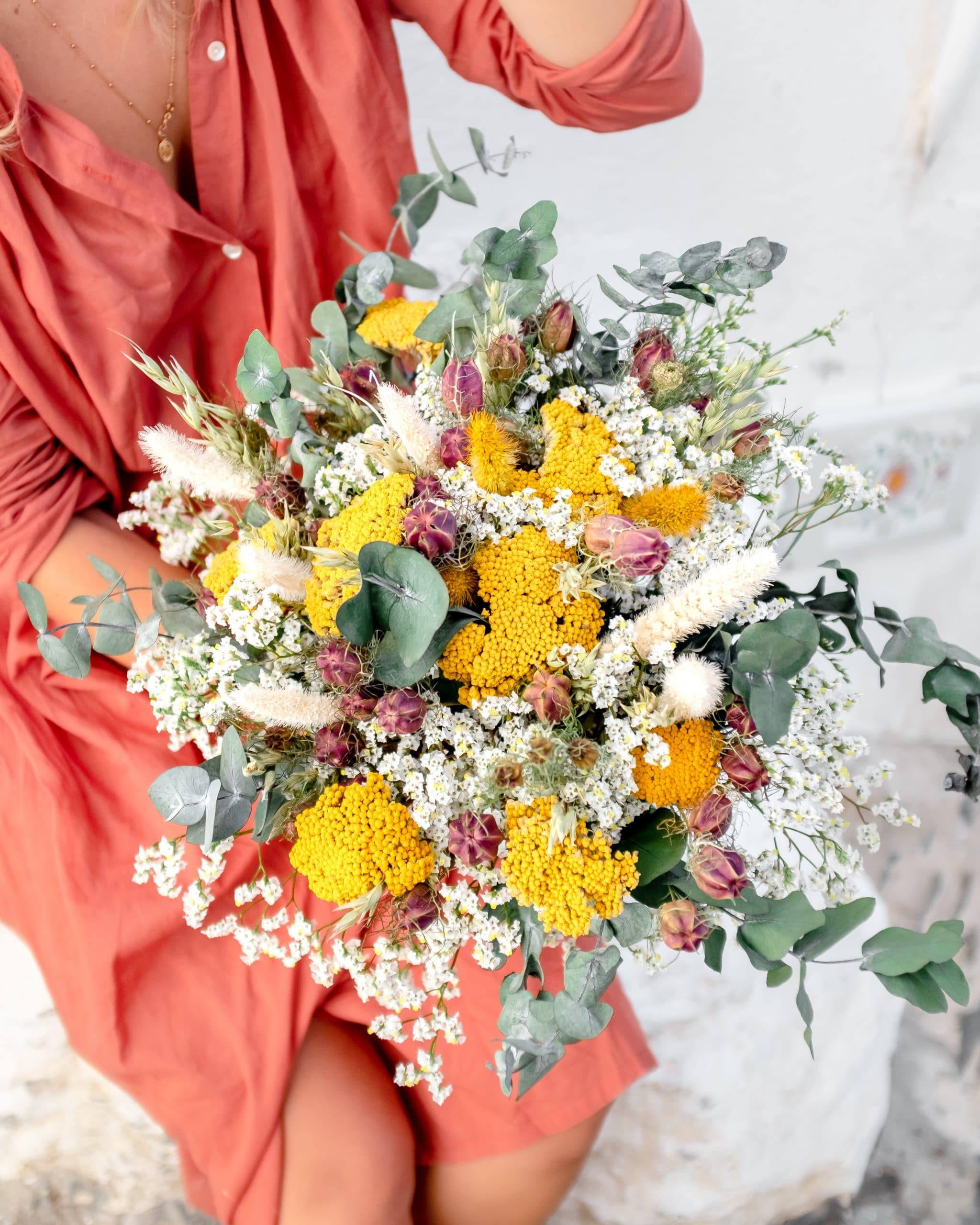 Bouquet de fleurs séchées Cala Monjoi