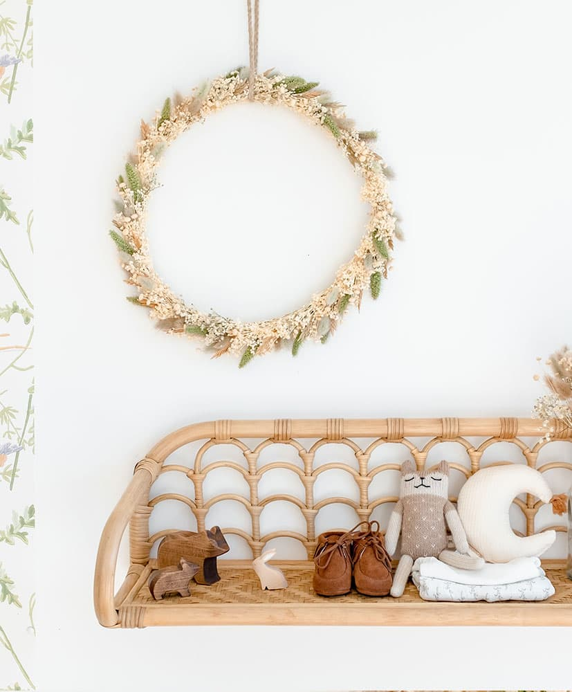 Snowflake Dried Flower Wreath