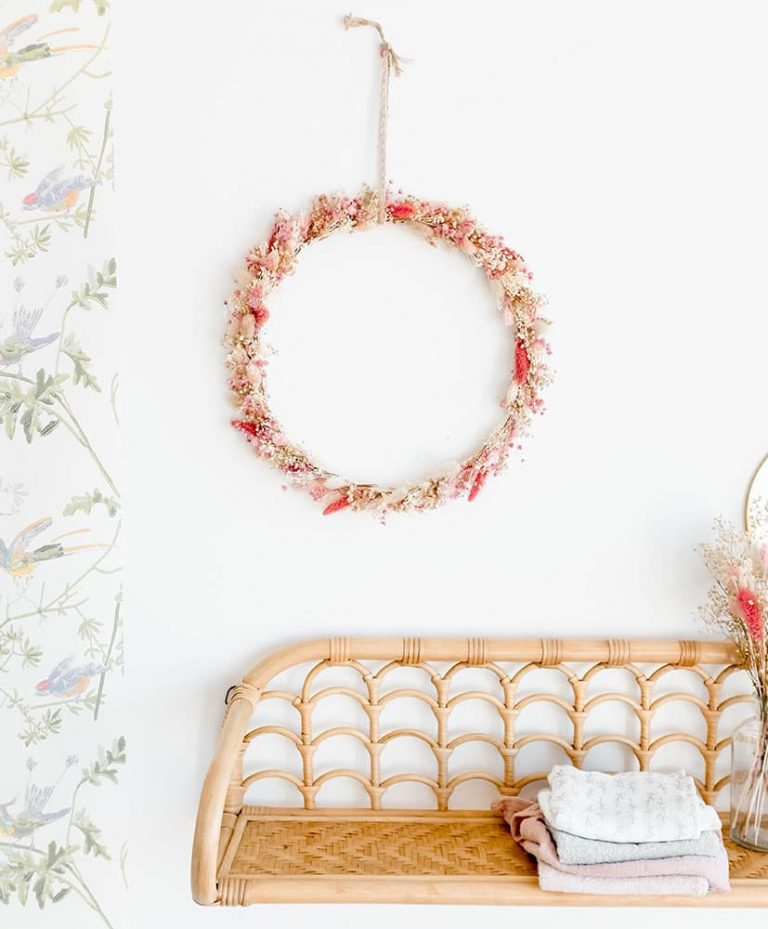 Chamallow Dried Flowers Wreath