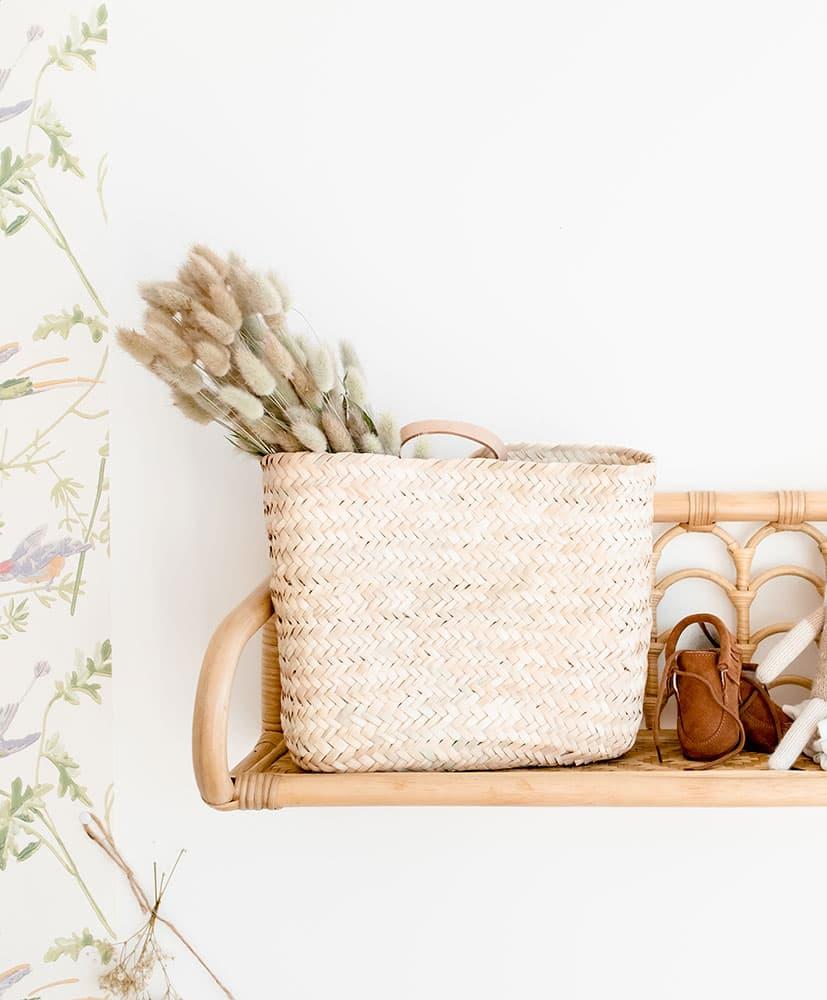 Panier de fleurs séchées Flocon