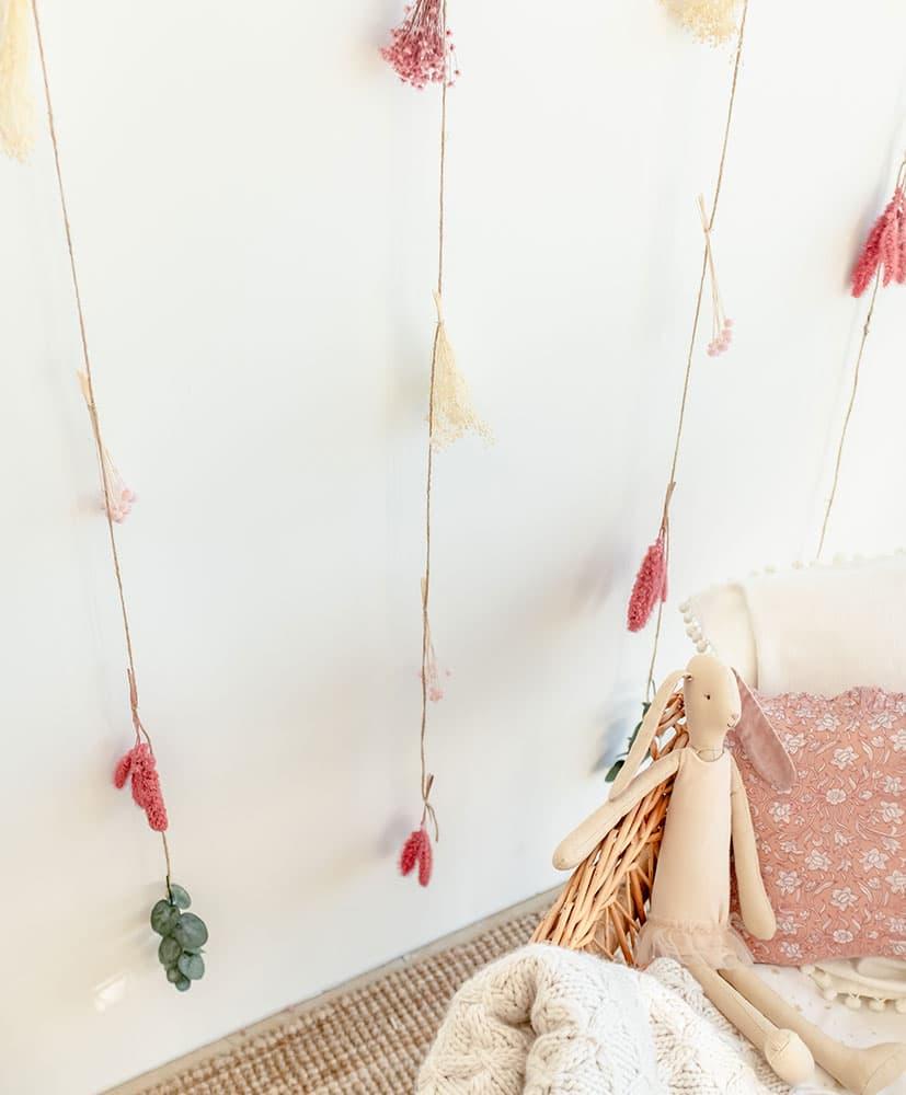 Rideau de Fleurs séchées Chamallow