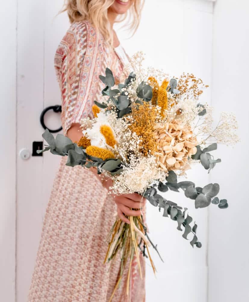 Bouquet de fleurs séchées tamariu par Rosa Cadaqués