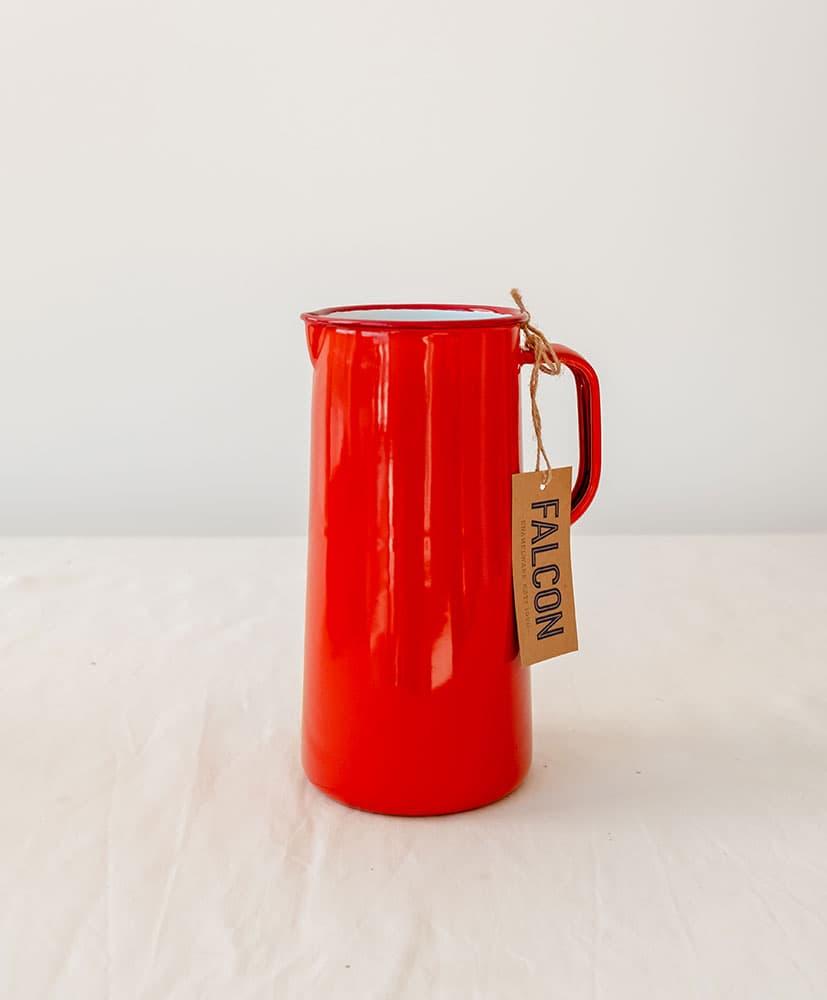 Vase carafe Falcon rouge orangé