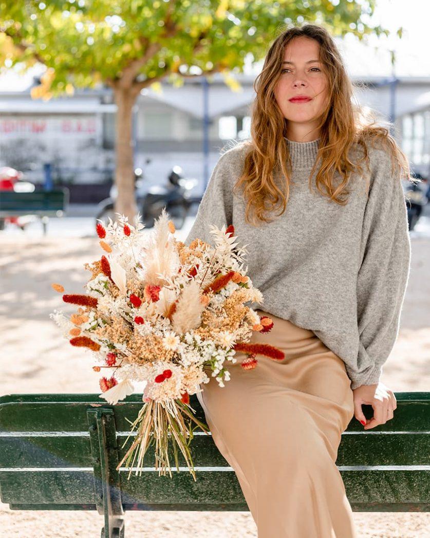 Bouquet de fleur séchée