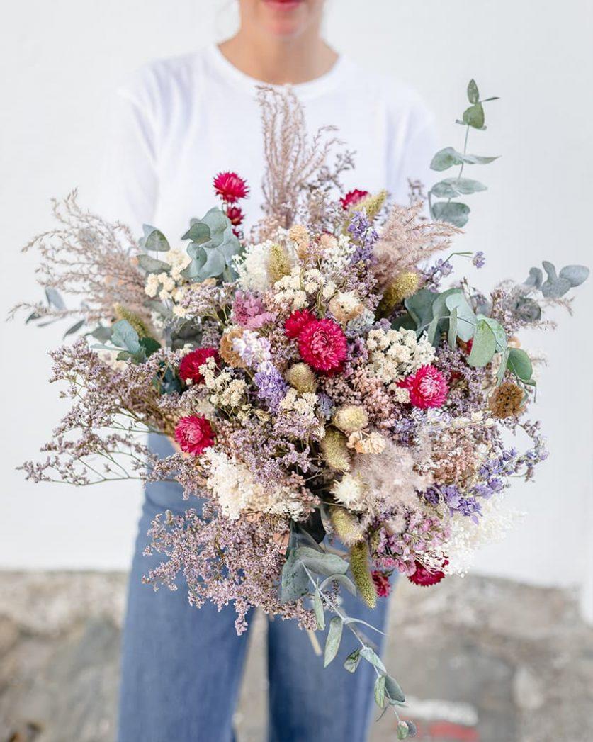 Bouquet fleurs séchées Rosa Cadaqués Cala Fornells