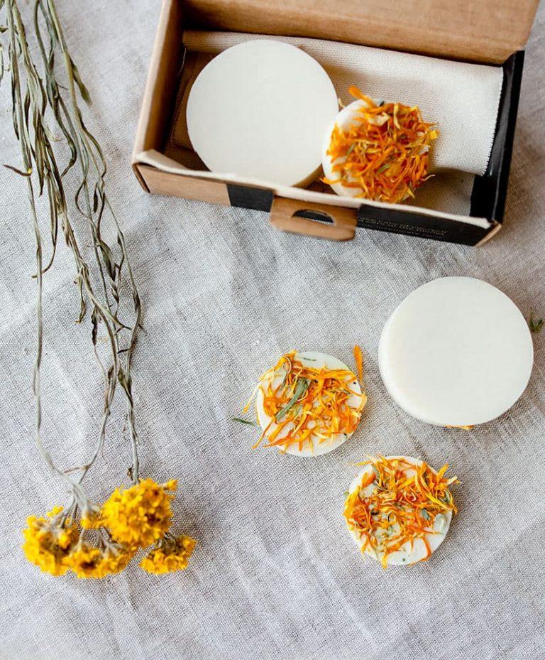 Savon Marigold aux fleurs séchées