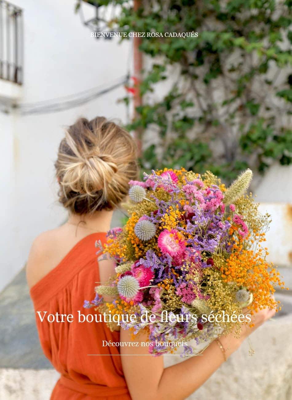 Comment Conserver Des Fleurs Séchées rosa cadaqués - livraison de bouquets de fleurs séchées