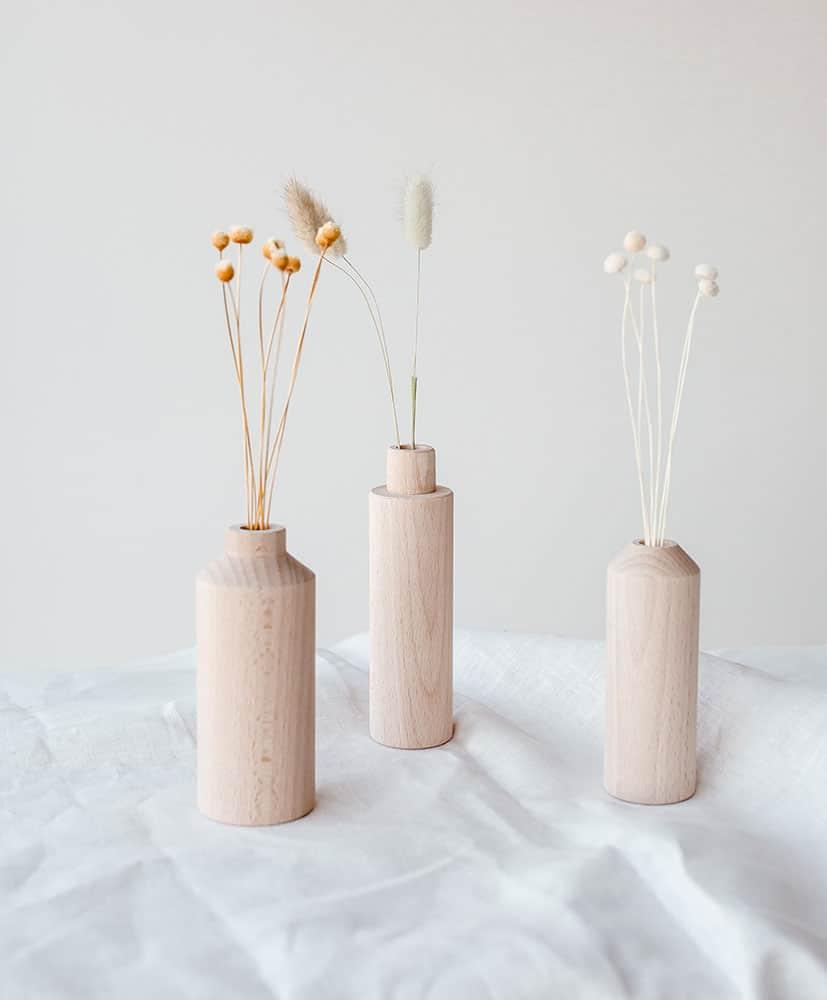 Soliflores en bois pour jolies fleurs séchées de saison