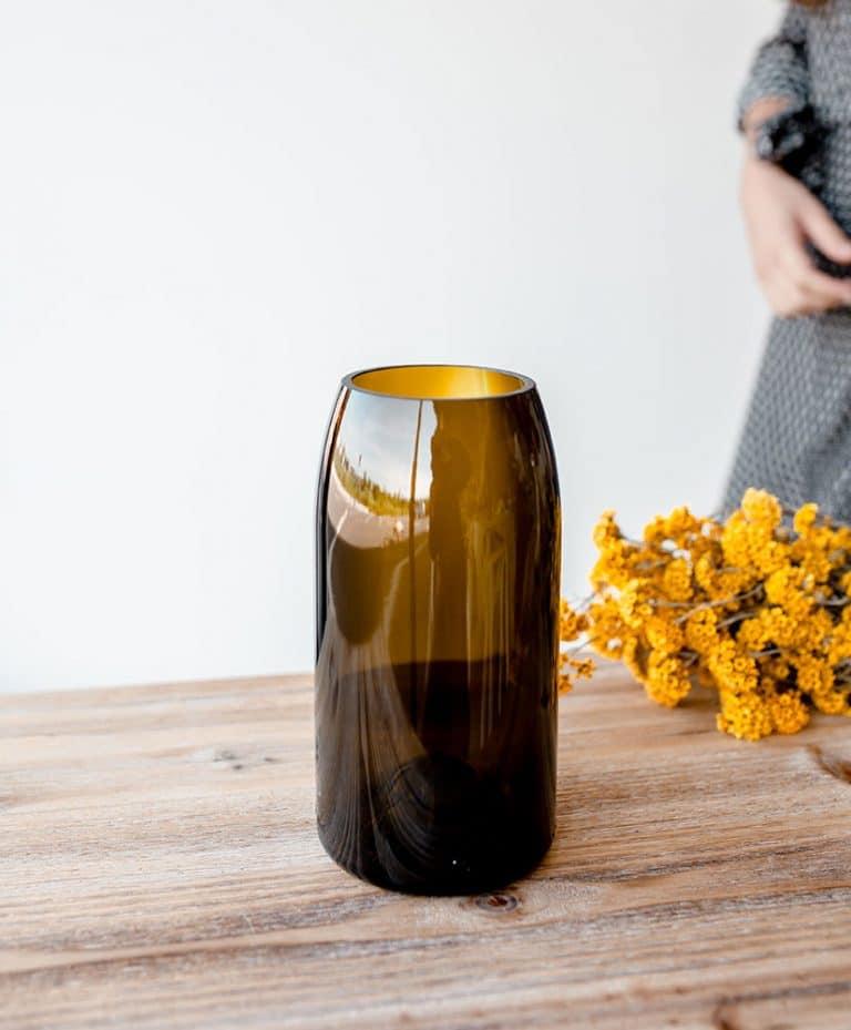 ochre Q de bouteille vase