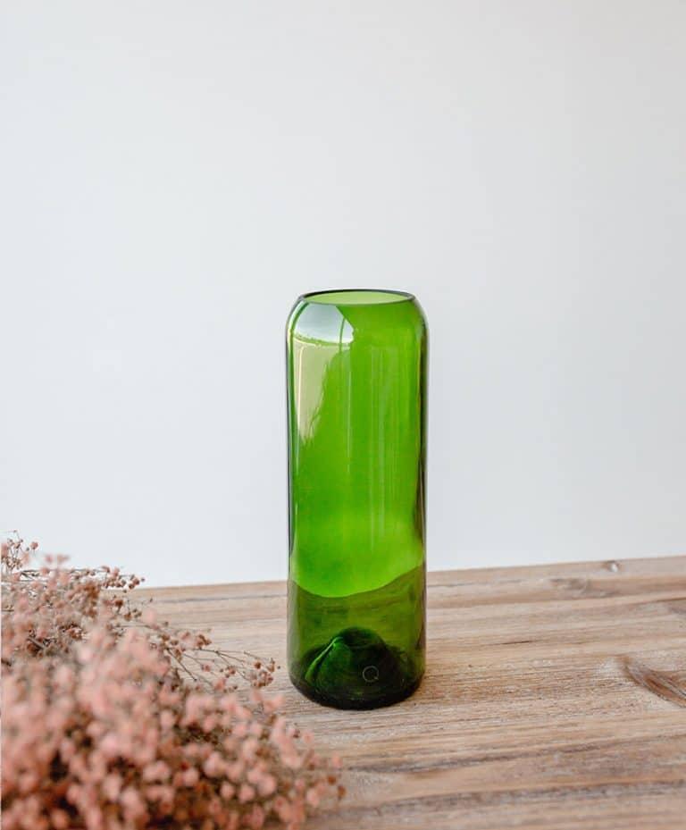 Vase Q de bouteille vert