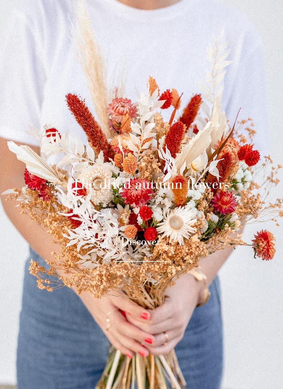 Bouquet de fleurs séchées Rosa Cadaqués automne