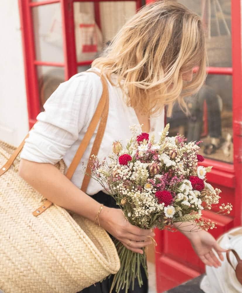 bouquet de fleurs séchées S'aranella Rosa Cadaqués