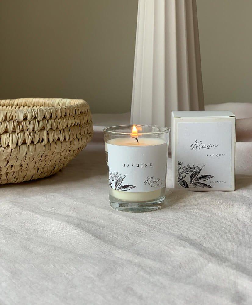 white jasmine candle -