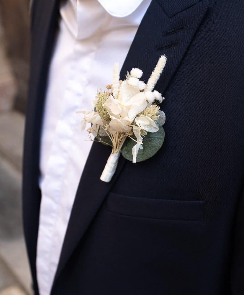 Flor de solapa Blanca -