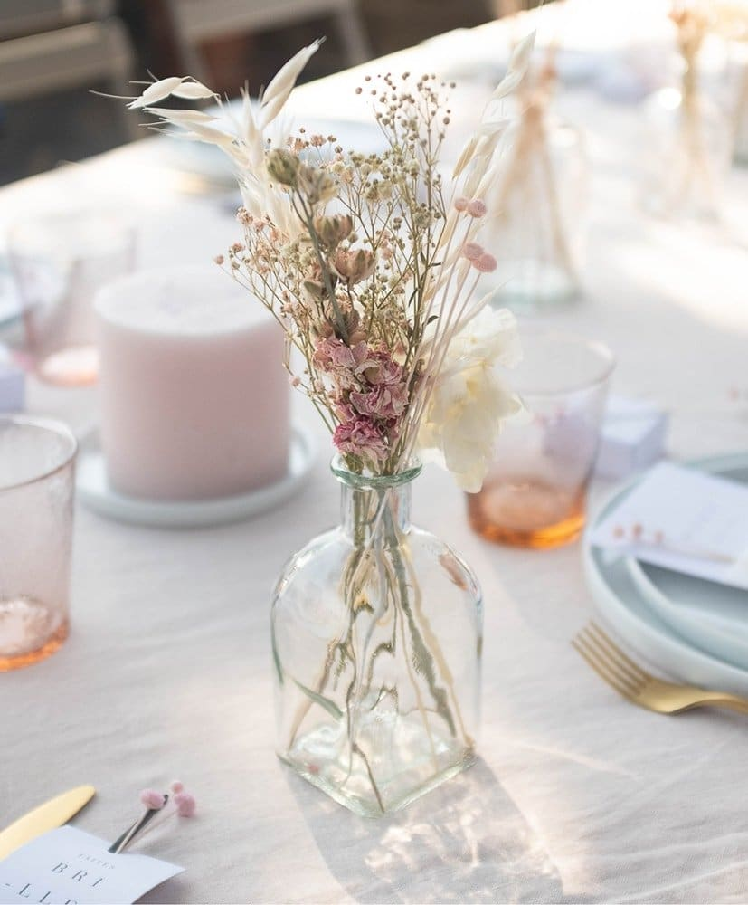 Rosa table centerpiece -