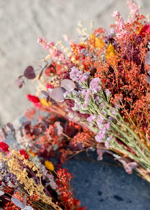 Bouquet fleurs séchées Rosa Cadaqués
