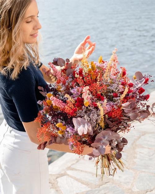 Bouquet de fleurs séchées rosa cadaques