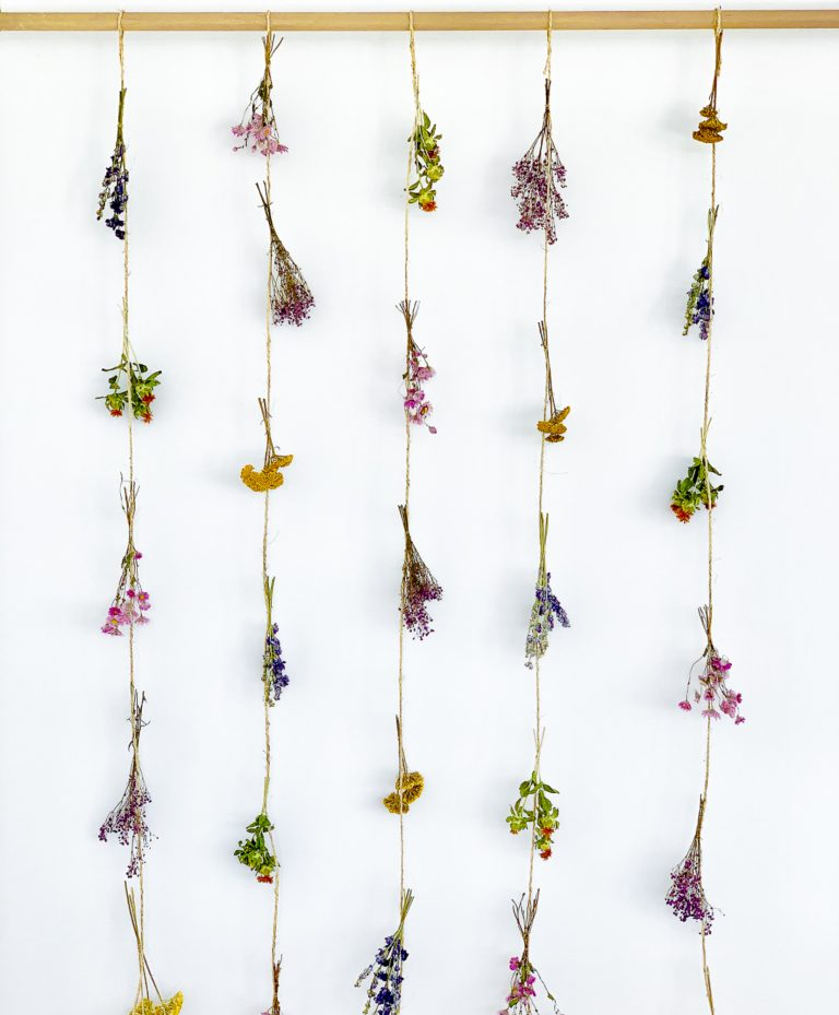 Dried flower curtain Joan