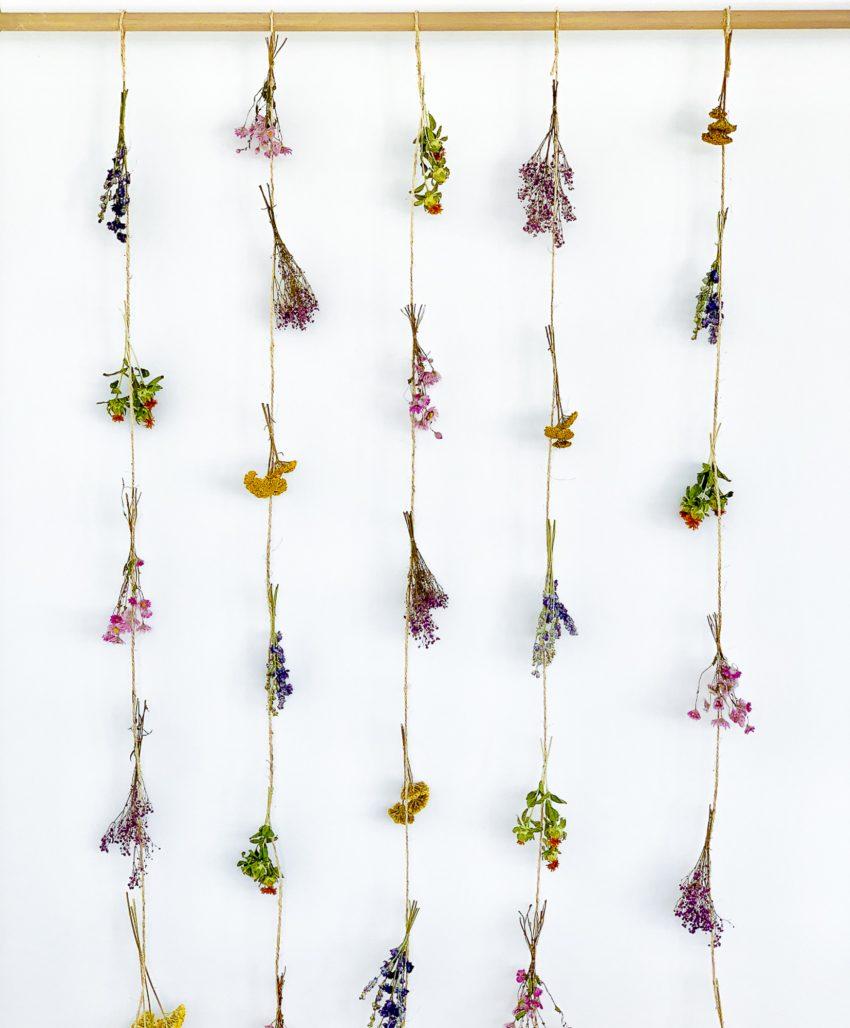 Rideau de fleurs séchées Joan