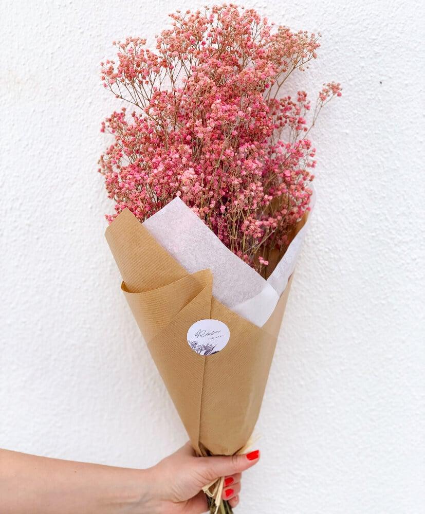 Gypsophile stabilisée rose-