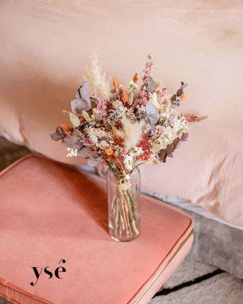Bouquet St Valentin fleurs séchées Rosa Cadaqués