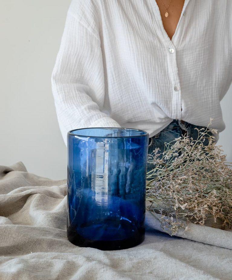 Vase Vela Azul