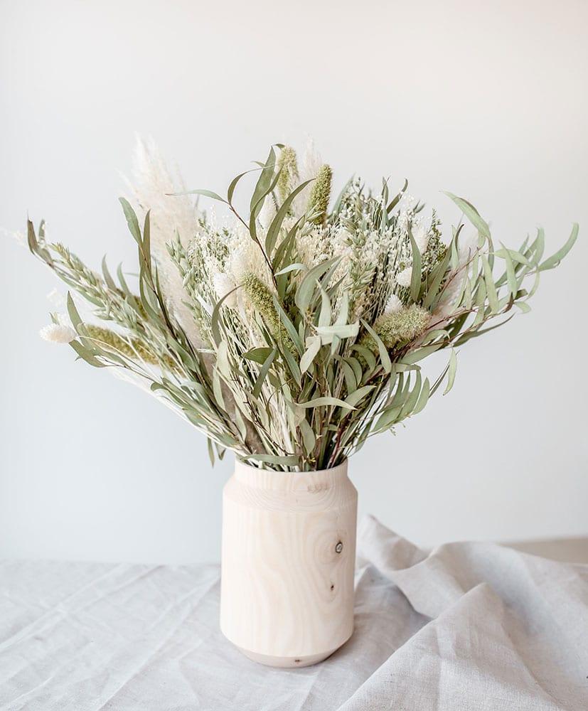 Wooden vase An°So